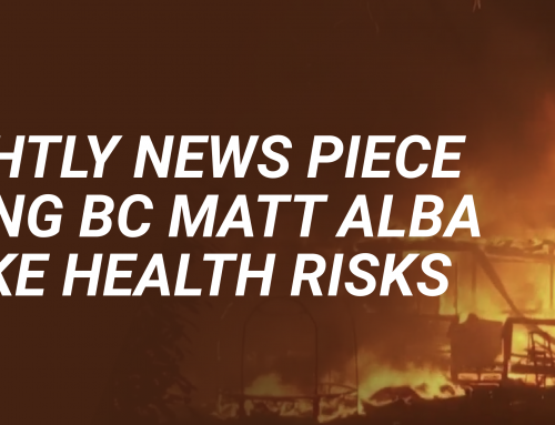 NBC Nightly News Piece Featuring BC Matt Alba on Smoke Health Risks