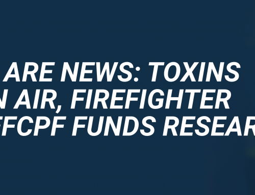 NBC Bay Area News: Toxins Found in Air, Firefighter Gear. SFFCPF Funds Research.